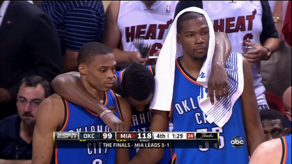 These three would have come back from their Finals loss with such a chip on their shoulder. Presti needed to give them at least one more season together.