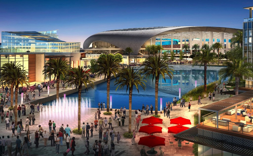 The approved (!!) stadium design to be built in Inglewood.