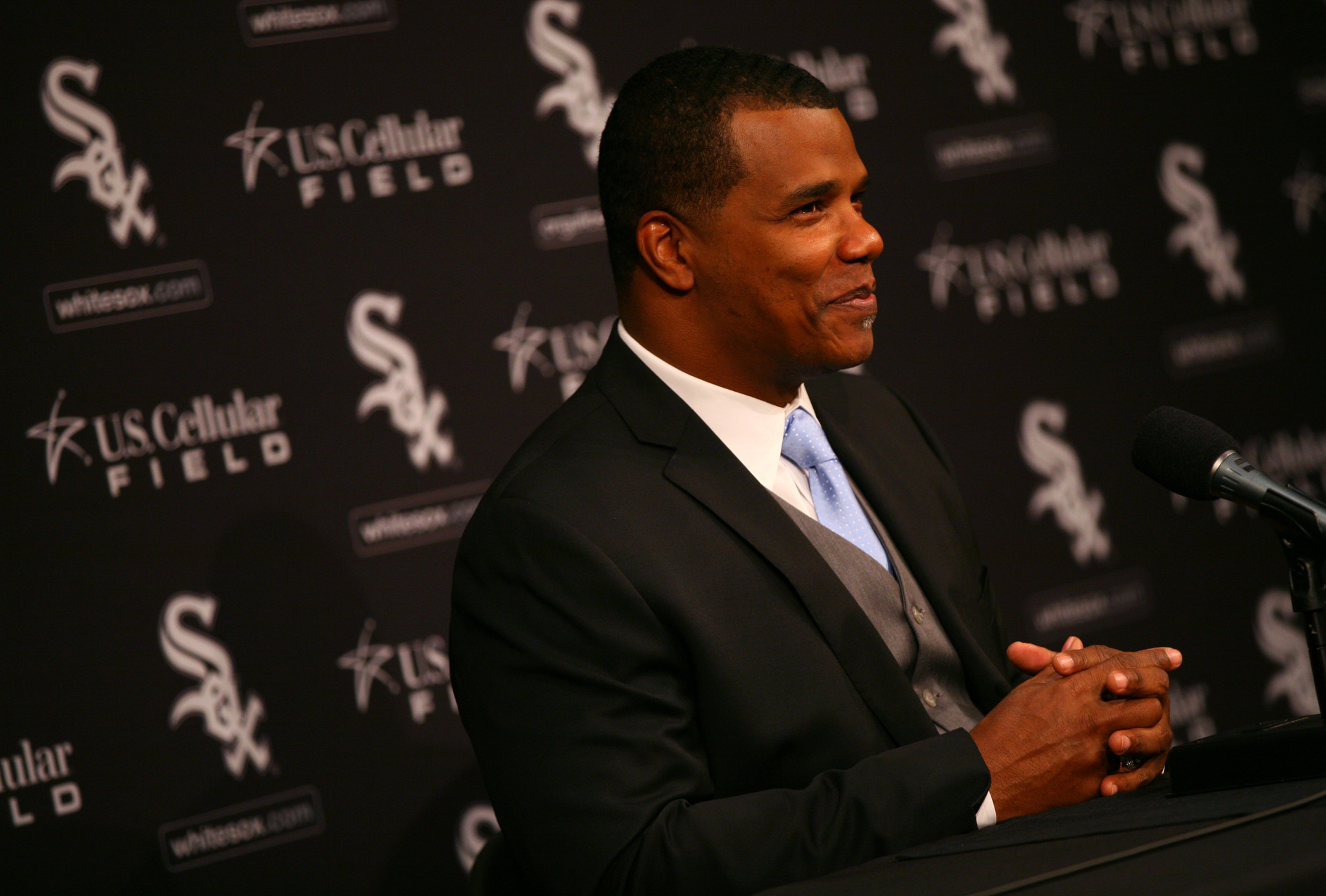 White Sox general manager Ken Williams is promoted to the position of executive vice president with Rick Hahn announced as new White Sox GM at U.S. Cellular Field Friday, Oct. 26 2012.  B582472752Z.1 (E. Jason Wambsgans/Chicago Tribune) ....OUTSIDE TRIBUNE CO.- NO MAGS,  NO SALES, NO INTERNET, NO TV, CHICAGO OUT, NO DIGITAL MANIPULATION...